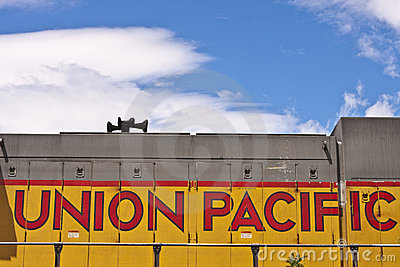 Union Pacific Logo on Locomotive Editorial Image