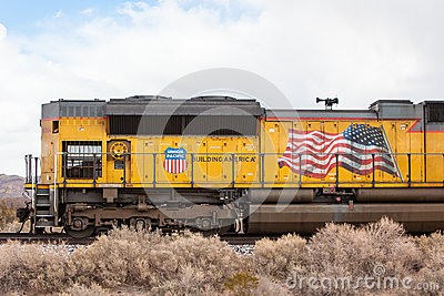 Union Pacific Train on Standy Editorial Stock Image