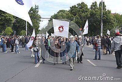 Union protest Editorial Photo