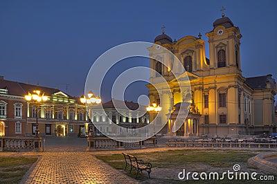 Union Square in the evening,Timisoara,Romania