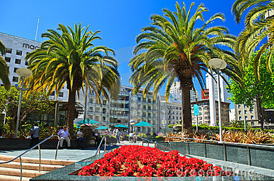Union Square, San Francisco Editorial Stock Photo