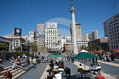Union Square San Francisco Editorial Stock Photo