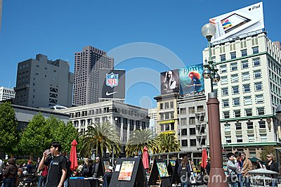 Union Square San Francisco Editorial Stock Image