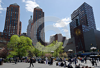 Union Square Sunny Day Editorial Photography