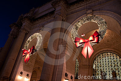 Union Station Christmas Wreath