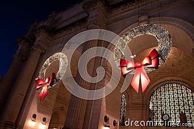 Union Station Christmas Wreath