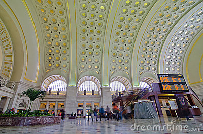 Union Station interior - Washington DC USA