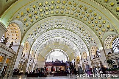 Union Station interior - Washington DC USA