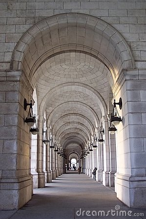 Free Union Station Walkway Royalty Free Stock Photos - 59948