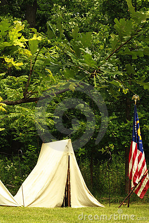 Union Tent and Flag