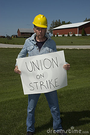 Union Worker On Strike