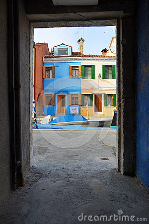 Framed view of Burano