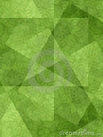 Unique Background Green Shapes