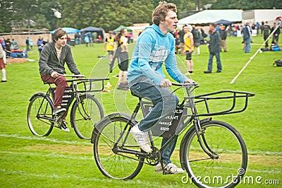 Unique bike race Editorial Stock Image