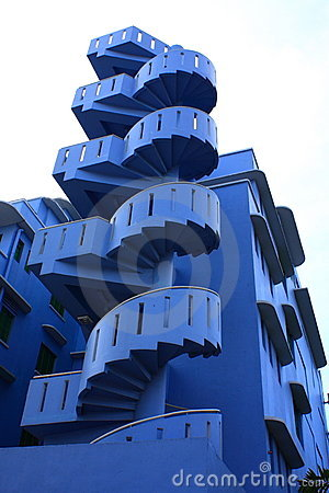 Unique Blue Spiral Stair