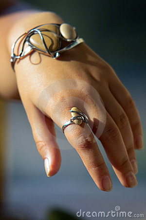 Unique bracelet and ring