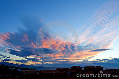 Unique cloud formations in Spain