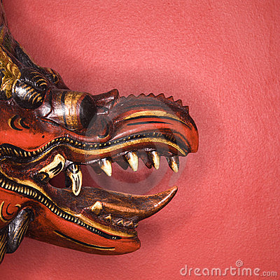 Unique dragon mask.