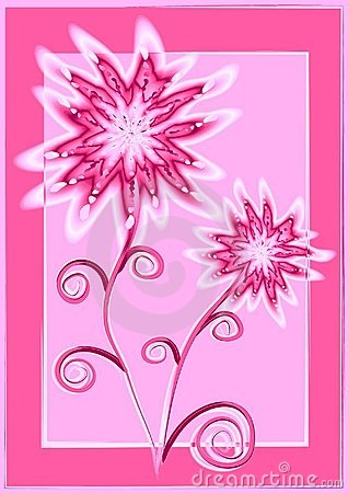 Unique Flowers Pink and White