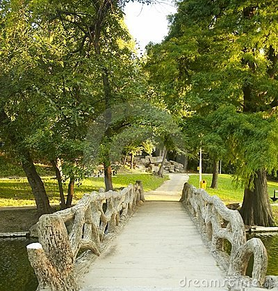 Unique Footbridge to the Park
