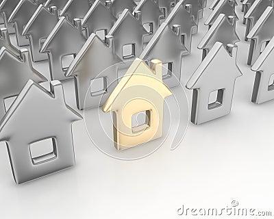 Unique golden house