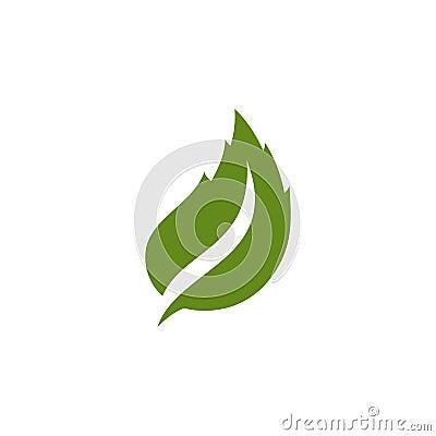 Unique green leaf logo. Stock Photo