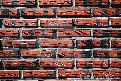 Unique grunge brick wall  background