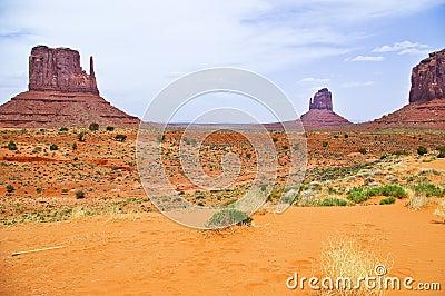 The unique landscape of Monument Valley, Utah, USA