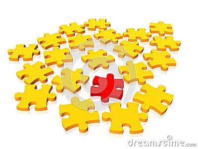 Unique puzzle concept