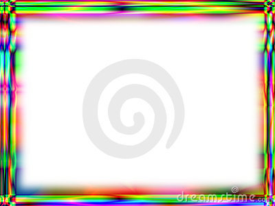 Unique rainbow frame with white empty space