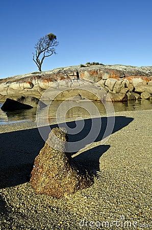Unique rock formation, Bay of Fires, Tasmania
