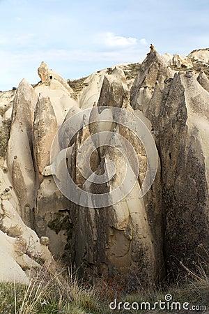 Unique Rock Formations In Cappadocia, Turkey