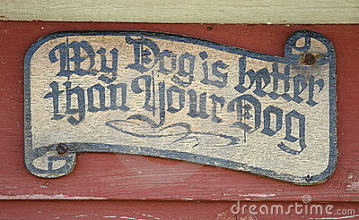 Unique Sign on a Doghouse