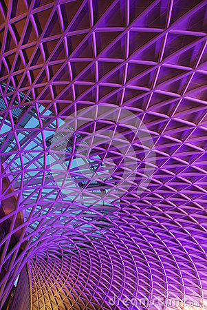 Unique Structure at Concourse of London King Cross