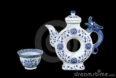 Unique teapot and teacup