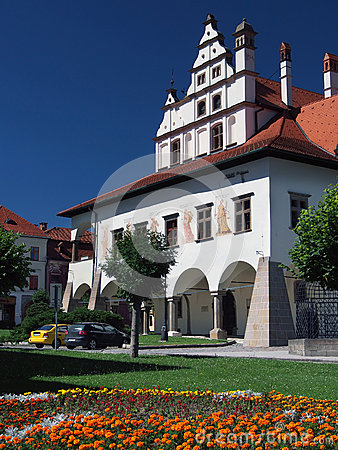 Unique town hall in Levoca
