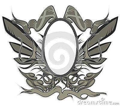 Unique vintage emblem