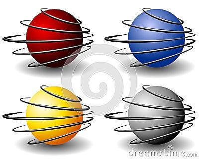 Unique Wire Sphere Balls Logo