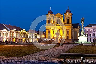 Unirii Square in Timisoara