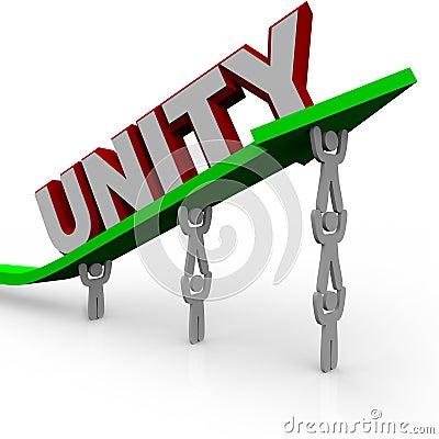 Unité - l équipe travaille ensemble