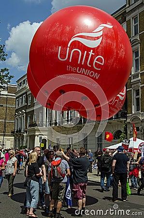 Unite Union Balloons Editorial Photography