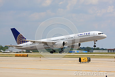 United Airlines airplane taking off Editorial Photography