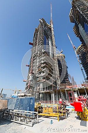 Free United Arab Emirates, Dubai, 05/21/2015, Damac Towers Dubai By Paramount, Construction And Building Royalty Free Stock Image - 64092076