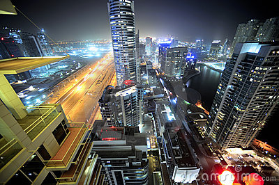 United Arab Emirates: horizonte de dubai en la noche