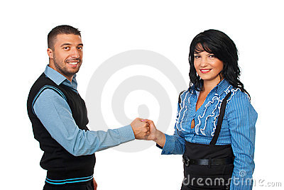 United business people holding hands
