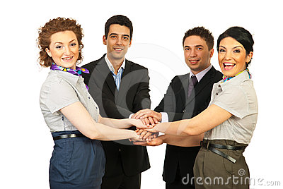 United cheerful business people team