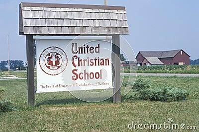 United Christian School Editorial Image