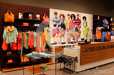 United Colors of Benetton  women clothes store Editorial Stock Photo