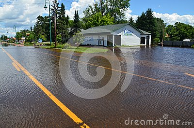 United Country Real Estate in Flood Editorial Photography