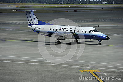 United Express Plane Editorial Photography